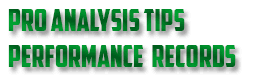 Pro anlysis tips performance records